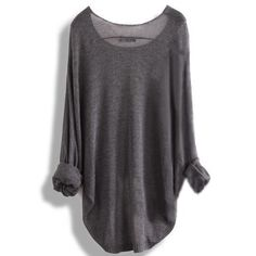 Fashion Irregular Long Sleeve Shirt Top Tee