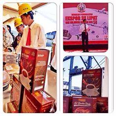 Khiyara with RI1 & SulSel1 @Gerakan Peningkatan Ekspor 3x Lipat - 3 Agustus 2015 - Makassar ☕️☕️☕️☕️☕️☕️ #jokowidodo #syahrulyasinlimpo #hotchocolatedrink #hotchocolate #makassar #icechocolate #chocolate #khiyara #indonesia #instantdrink