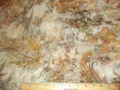 Silk Chiffon Paisley Floral Metallic Accents Apparel Fabric Semi Sheer BFSilk in Crafts, Sewing & Fabric, Fabric   eBay