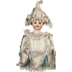 Antique German Marotte Party Doll with a Bisque Head, possibly Simon & from therecklessnecklace on Ruby Lane