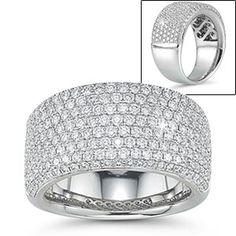 Round Brilliant Diamond Pave Ring