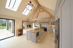 Oak frame truss kitchen living room inspiration ideas oak frame  light decorating ideas oak building development project open plan living oak beam natural structures artisan build building new home