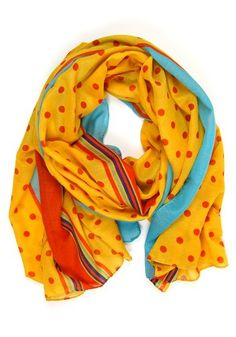 Date at the Diner Scarf: Yellow (Spotted Moth) $10.49