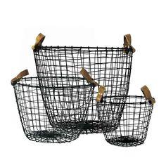 Decorative Black Wire Baskets