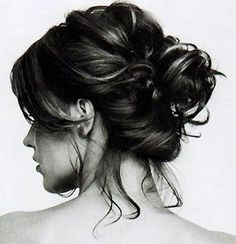 The messy bun is a quick and easy hairstyle.