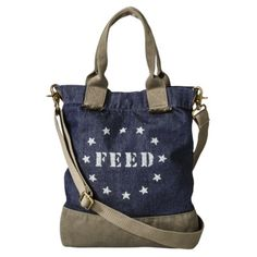 FEED for Target® Women's Crossbody Bag -Navy.  A portion of proceeds helps feed the hungry via charity.