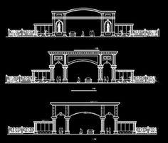 Gate Wall Design, Front Wall Design, Entrance Design, Entrance Gates, Architecture Blueprints, Architecture Details, Architecture Diagrams, Architecture Portfolio, Historical Architecture