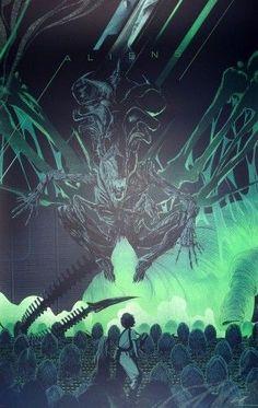 Kevin Tong - Aliens Mondo Poster Print