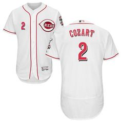 Reds  2 Zack Cozart White Flexbase Authentic Collection Stitched MLB Jersey  Baseball Jackets 78444999a2f7
