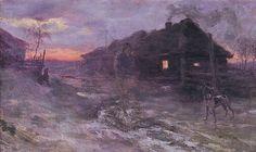 ''Premonition'' by Henryk Weyssenhoff {oil on canvas,c.1893}