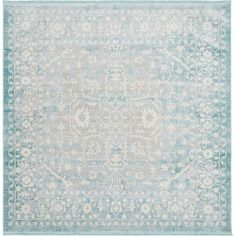 Unique Loom New Classical Olympia Blue 8' 0 x 8' 0 Square Rug-3129960 - The Home Depot Glitter Shirt, Glitter Uggs, Glitter Glue, Light Blue Area Rug, Blue Area Rugs, Blue Rugs, Teal Colors, Trendy Colors, Color Blue