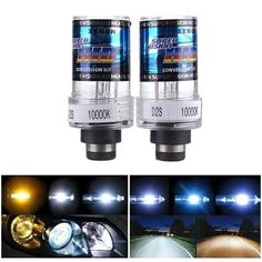 2 X 35W D2S Car HID White Xenon Headlight Light Lamp Bulbs. 2 X 35w D2s Car Hid White Xenon Headlight Light Lamp Bulbs    description:  hid Stands For High Intensity Discharge. Hid Lights Are The Brightest Auto Lights Today.   in Hid Lights, The Filament Is Replaced By The Xenon Gas. When Exposed To High Voltage,   the Gas Is Ignited And Produces A Beam Of Light Which Is 3 Times Brighter Than The Regular Halogen Bulbs.     feature:  1. High Brightness And Low Power Consumption  2. They Are…