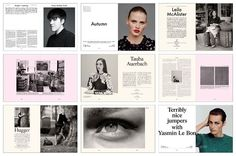 The Gentlewoman Magazine Layouts