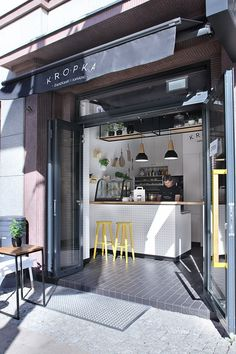 Best Small Coffee Shop Ideas On Small Cafe Design Shop Front Door Design S.c Door Shop Design Srl Cafe Shop Design, Coffee Shop Interior Design, Small Cafe Design, Bar Design, Bar Interior, Coffee Shop Interiors, Menu Design, Store Design, Döner Restaurant
