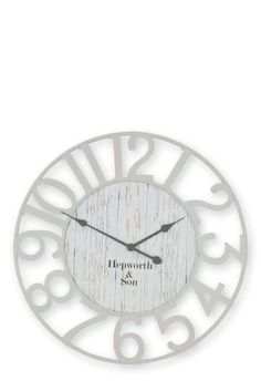 Buy Cut Out Metal Clock from the Next UK online shop Next At Home, Next Uk, Shabby Chic Wall Clock, Mantle Clock, Clock Wall, Metal Clock, Large Clock, Telling Time, Love Home
