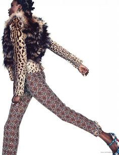 Fur mixed with print and leopard