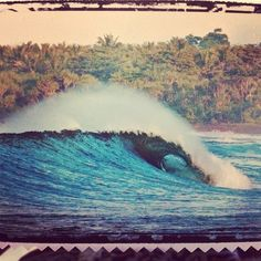 The dream #perfectwaves #saveyourpennies #indonesia #surf #postcards #available in store photo by Brad Masters