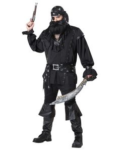 Yar!  Sail the high seas in search of plunder with this Plundering Pirate Adult Costume!  $69.88
