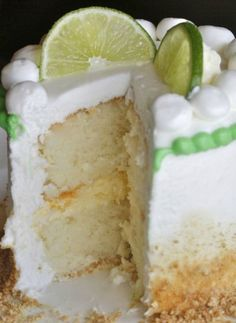 Key Lime Baby Cake Recipe is a great dessert for birthdays and special occasions  from  The Hopeless Housewife®