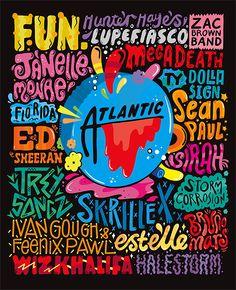 Kate Moross Atlantic Records Typography