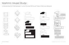 Formal Analysis of the Koshino House by Tadao Ando - MeinPin Tado Ando, Koshino House, Formal Analysis, Water Temple, Site Analysis, Architecture Design, Study, Architectural Presentation, Architects