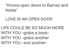 The only time I would sing that song... Favorite store: BARNES AND NOBLES!!!!!!!