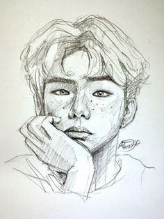 Portrait of a boy, pencil sketch, drawing on rough sheet Portrait Sketches, Art Drawings Sketches Simple, Pencil Art Drawings, Drawing Ideas, Portrait Au Crayon, Portrait Art, Pencil Portrait, Kpop Drawings, Sketch Inspiration