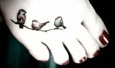 Bird tattoo - don't like the placement but like the cute birds