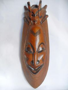 Large wooden African wall hanging mask #10814
