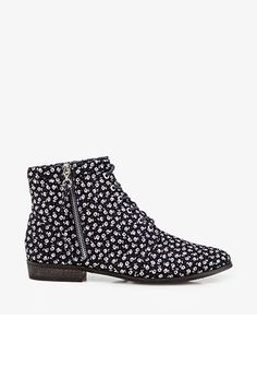 Want these: #Floral Lace-Up #Booties from #FOREVER21!