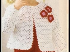 Bolero Croche Infantil manga - Crochet Bolero very easy - Ganchillo Bolero - Crochet Slippers Crochet Baby Blanket Beginner, Crochet Cardigan Pattern, Crochet Jacket, Crochet Stitches Patterns, Baby Knitting, Sewing Patterns, Crochet Girls, Love Crochet, Crochet For Kids