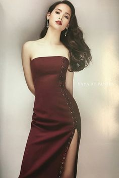 Evening Outfits, Evening Dresses, Asian Woman, Asian Girl, Asian Ladies, Young Models, Stunningly Beautiful, Traditional Dresses, Strapless Dress Formal