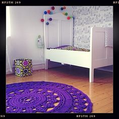 Crocheted rug but in cream would be beautiful