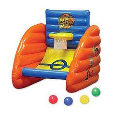 "32"" Aqua Fun Inflatable Swimming Pool Arcade Basketball Game - Walmart.com"