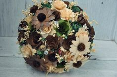 Brown and Olive Wedding Bouquets | Reduce. Reuse. Recycle. Replenish. Restore.
