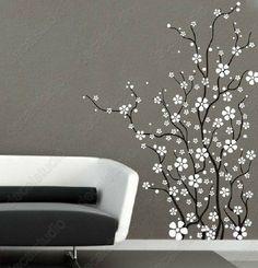 63 best flower wall stickers images on pinterest flower wall branch with blooming flowers wall decals baby girl nursery bedroom mightylinksfo