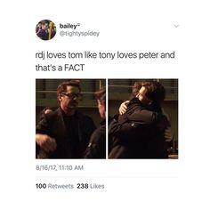 I just love how tom was so scared to meet him at first but now he is like his dad