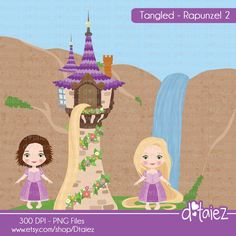 TANGLED  Rapunzel pack 2  FREE digital paper pack by Dtaiez