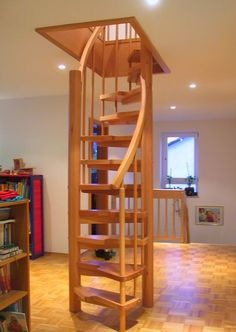 Spiral Staircase Plans Simple Design Easy To Build Attic Storage And Staircases