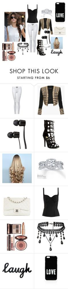 """With my girl Selena"" by mrsbieber123-396 ❤ liked on Polyvore featuring Pilot, Balmain, Vans, WigYouUp, Angel Sanchez, Chanel, Alexander McQueen, Charlotte Tilbury and Givenchy"