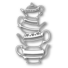 POPPYSTAMPS - Metal Craft Dies, TEAPOT STACK