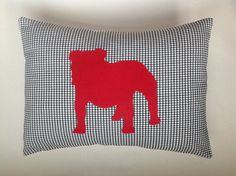 Georgia Bulldog Silhouette Pillow.