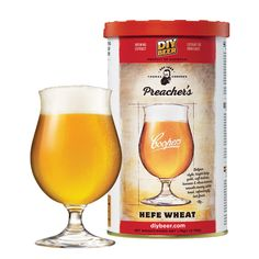 Coopers Preacher's Hefe Wheat is a bright hazy gold with soft texture, banana and clove aromas, smooth creamy white head and refreshingly tart finish. Home Brew Supplies, Brewing Supplies, Coopers Home Brew, Home Brew Shop, Home Brewing Equipment, Homemade Beer, Wheat Beer, Belgian Style, Beer Brewing