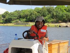 "#ChobeGameLodge boasts a staff of ""all female"" safari guides that take guests on game-drives, game viewing boat rides, and sunset cruises.  #Botswana, #Africa"