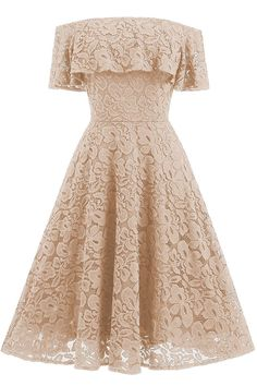 Adodress Women's Lace Short Prom Dresses Short Sleeve off Shoulder Casual Swing Cocktail Homecoming Dresses Off Shoulder Floral Dress, Off Shoulder Cocktail Dress, A Line Cocktail Dress, Cocktail Dresses, Shoulder Dress, Vintage Cocktail Dress, Ball Gown Dresses, Evening Dresses, Lace Dresses