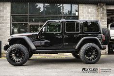 Jeep Wrangler with Dropstar 654 Wheels exclusively from Butler Tires and Wheels in Atlanta, GA - Image Number 10873 Jeep Rubicon, Jeep Wrangler Wheels, Jeep Wrangler Rubicon, Jeep Wrangler Unlimited, Blacked Out Jeep Wrangler, Wrangler Sahara, Jeep Jl, Jeep Cars, Toyota Fj Cruiser
