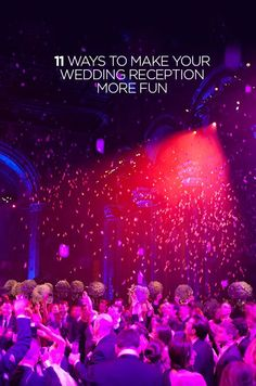 A rose petal drop is an incredibly romantic 'wow' moment your guests will remember long after your wedding day has passed. Check out those 11 ideas to make your wedding reception more fun: http://www.colincowieweddings.com/articles/wedding-basics-etiquette/fun-wedding-reception-ideas