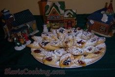 This kolacky recipe is a yeast dough cookie recipe from former Czechoslovakia and can be made with different flavors of firm fruit fillings such as lekvar made from Kolache Cookie Recipe, Cookie Recipes, Lekvar Recipe, Slovak Recipes, Polish Recipes, Polish Food, Filled Cookies, Holiday Cookies, Cookie Dough