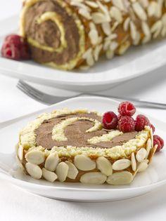 Rolé helado de chocolate con manjar