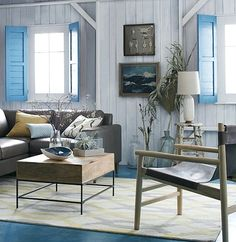Charming Coastal -Interior Decorating with Shutters